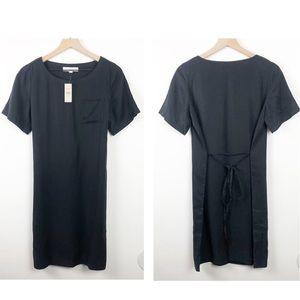 NWT Loft 100% Lyocell Short Sleeve Black Dress